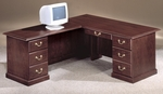 Andover 66'' Left Executive L Desk - Sherwood Mahogany [7462-49-FS-DMI]