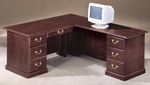 Andover 66'' Right Executive L Desk - Sherwood Mahogany [7462-48-FS-DMI]