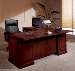 Andover 72'' Left Executive L Desk - Sherwood Mahogany [7462-38-FS-DMI]