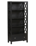 Anna Collection 5 Shelf Bookcase [K86103C124-FS-LIN]