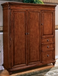 Antigua Computer Armoire - West Indies Cherry [7480-75-FS-DMI]