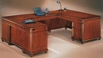 Antigua Left Executive U Desk - West Indies Cherry [7480-58-FS-DMI]