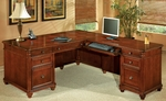 Antigua Right Executive L Desk - West Indies Cherry [7480-55-FS-DMI]