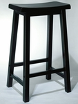 Antique Black Bar Stool [502-431-FS-PO]