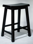 Antique Black Counter Stool [502-430-FS-PO]