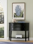 Antique Black Demilune Console Table [502-515-FS-PO]