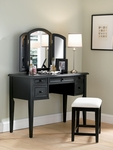 Antique Black Vanity [502-290-FS-PO]