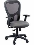 Apollo Synchro High Back 26'' W x 24'' D x 41'' H Adjustable Height Mesh Back Task Chair - Fabrix [MM9500-FAB-FS-EURO]