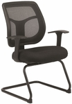 Apollo 24'' W x 20'' D x 36'' H Mesh Guest Chair with T Pad Arms - Black [MTG9900-PM01-5806-FS-EURO]