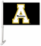 Appalachian State Red Car Flag with Wall Brackett [97176-FS-BSI]