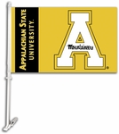 Appalachian State Yellow Car Flag with Wall Brackett [97076-FS-BSI]