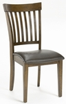 Arbor Hill 19''H Wood Dining Chair with Bonded Leather Seat - Set of 2 - Colonial Chestnut [4232-802-FS-HILL]