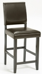 Arcadia 24'' Counter Height Parson Stool with Brown Seat - Espresso [4180-823YM-FS-HILL]