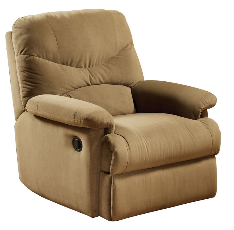 Arcadia Transitional Style Microfiber Glider Recliner With