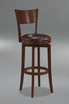 Archer 25'' Counter Height Stool with Dark Brown Faux Leather Seat Swivel Seat - Brown [4166-826-FS-HILL]