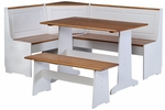 Ardmore Nook - White with Pine Accents [K90305WHT-AB-KD-U-FS-LIN]