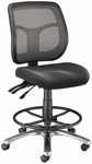 Argentum Mesh Back Drafting Height Adjustable Chair - Black [CH728-45DH-FS-ALV]