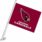 Arizona Cardinals Car Flag w/ Wall Brackett [98922-FS-BSI]