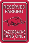 Arkansas Razorbacks 12'' X 18'' Plastic Parking Sign [50204-FS-BSI]