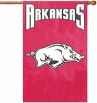 Arkansas Razorbacks Applique Banner Flag [AFARK-FS-PAI]
