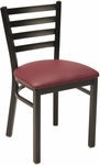 3300 Series Square Steel Frame Armless Hospitality Chair with Ladder Back and Upholstered Seat - Sandtex Black [IM3316-SB-IFK]