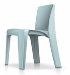 RazorBack Armless Intense Use 30'' H Stack Chair - Blue Gray [86484BG-CORT]