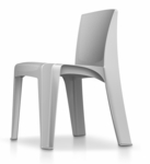 RazorBack Armless Intense Use 30'' H Stack Chair - Fog Gray [86484FG-CORT]