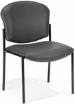 Manor Anti-Bacterial and Anti-Microbial Vinyl Guest and Reception Chair - Charcoal [408-VAM-604-MFO]