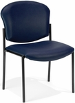 Manor Anti-Bacterial and Anti-Microbial Vinyl Guest and Reception Chair - Navy [408-VAM-605-MFO]