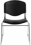 Impact Resistant Armless Plastic Stack Chair - Black [OTG11700-BK-FS-GLO]