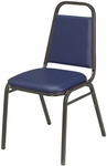 800 Series Stacking Armless Hospitality Chair with Trapezoid Back and 1.5'' Vinyl Seat [IM810-IFK]