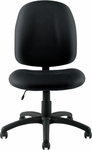 Armless Fabric Task Chair with Casters - Black [OTG11650-QL10-FS-GLO]