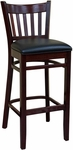 Vertical Back Wood Barstool - Grade 4 Vinyl [900-BS-GR4-SAT]