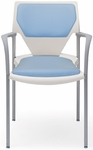 Arriva Stacking Chair with Cushion Back and Seat [AV-4-CPS-CPB-FS-ADI]