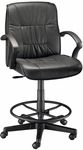 Art Director Adjustable Height Black Leather Executive Chair [CH777-90DH-FS-ALV]