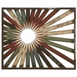 Distressed Bronze Oil Rubbed Metal Art Pencil Tip 30''H Wall Decor - Multicolor [2622-FS-PAS]