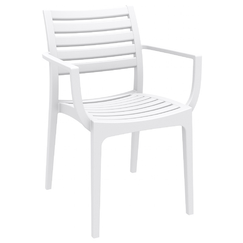 Artemis Outdoor Dining Arm Chair White ISP011 WHI by  : artemis outdoor dining arm chair white isp011 whi cmp 4 from www.bizchair.com size 800 x 800 jpeg 43kB