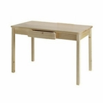 American Made Child's Arts and Crafts Wood Table with 2 Storage Drawers - Unfinished [046-UNF-FS-LC]