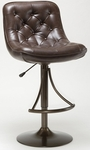 Aspen Height Adjustable Bar Stool with Dark Brown Faux Leather Swivel Seat - Copper [4290-831H-FS-HILL]