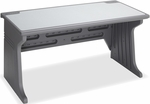 Aspira 60'' W Office Desk with Cable Management - Charcoal [92402-ICE]