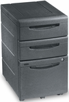 Aspira Mobile Underdesk Box Box File Pedestal - Black [95211-ICE]