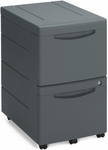 Aspira Mobile Underdesk Two File Drawer Pedestal - Black [95411-ICE]