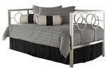 Astoria Modern Metal Daybed with Link Spring and Pop-Up Trundle - Champagne [B10059-FS-FBG]
