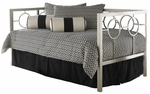 Astoria Modern Metal Daybed with Link Spring - Champagne [B10058-FS-FBG]
