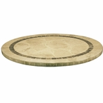Atcostone 28'' Round Indoor/ Outdoor Table Top - Sand Beige [ASSB28D-ATC]