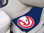 Atlanta Hawks 2-piece Carpeted Car Mats 18'' x 27'' [9200-FS-FAN]