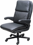 Atlantis Office Chair with Padded Headrest - Leather [OF-ATLN-L-FS-ARE]