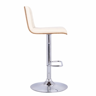 Aubrey Height Adjustable Chrome Finish Swivel Stool With