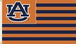 Auburn Tigers 3' X 5' Flag with Grommets - Striped USA Style [95845-FS-BSI]
