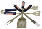 Auburn Tigers 4 Pc Bbq Set [61045-FS-BSI]